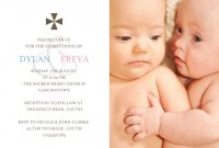 Baptism Invitation Card Template Awesome Twin Christening Sleepymoon Cards