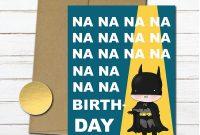 Batman Birthday Card Template Unique Batman Birthday Card Card Design Template