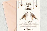 Birthday Card Template Indesign New Wedding Invitation Templates