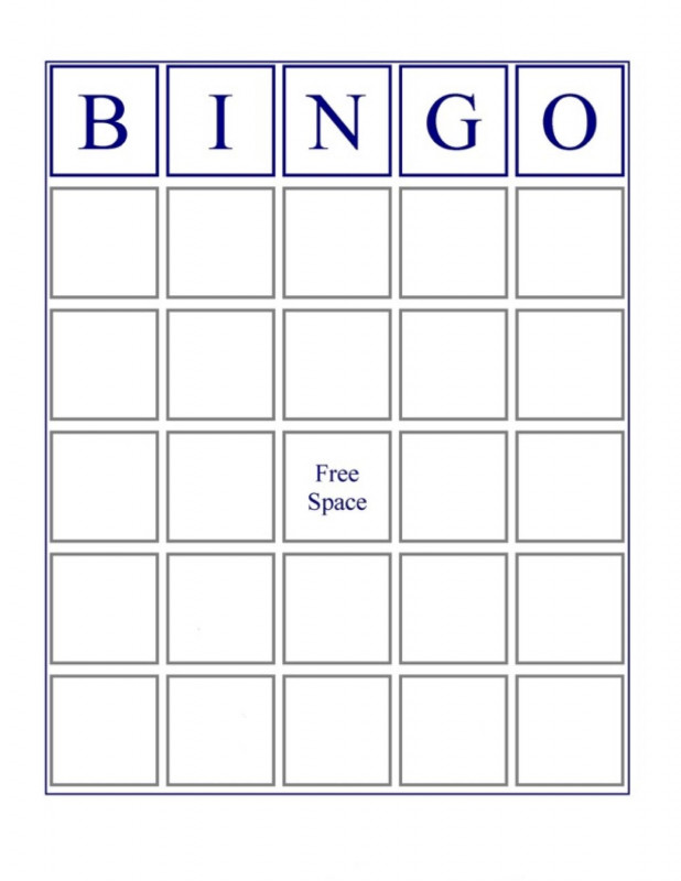 Blank Bingo Card Template Microsoft Word New Use Objects On The Other Cards To Make A Very Good One
