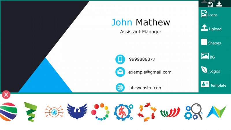 Blank Playing Card Template Awesome Business Card Maker For Android Apk Download