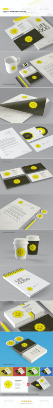Business Card Letterhead Envelope Template Unique Close Up Corporate Identity And Branding Mock Ups By Codeid