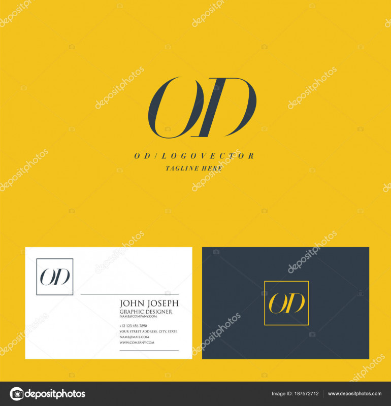 Business Card Maker Template Awesome Joint Letters Logo Business Card Template Vector Stock