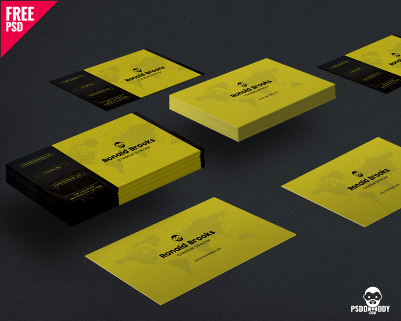 Business Card Size Photoshop Template Awesome 150 Free Business Card Psd Templates