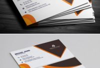 Business Card Size Template Psd Unique Modern Business Card Template Business Card Template