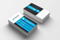 Business Card Size Template Psd Unique Stylish Name Card Template 002976