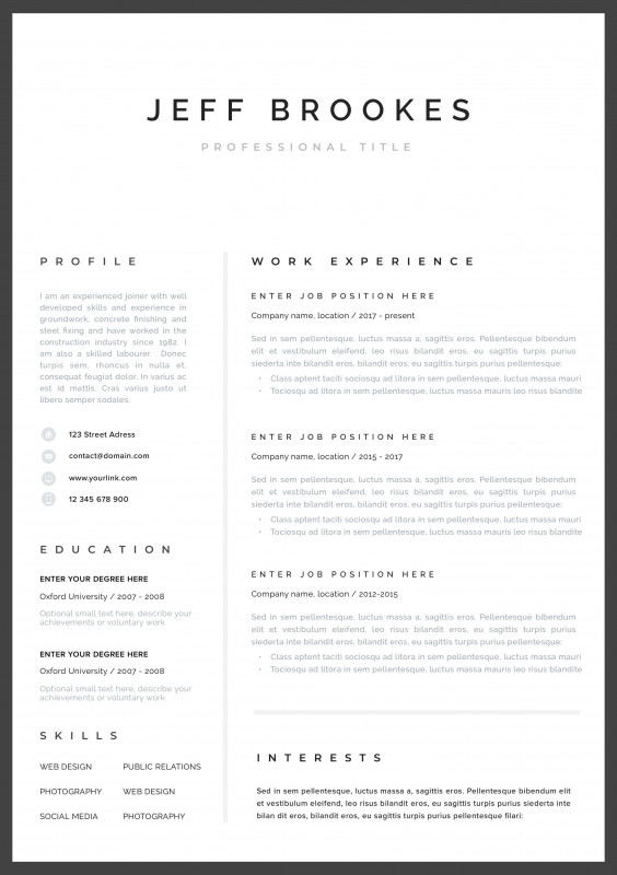 Business Card Template Pages Mac Awesome Modern Resume Template Cv Template Cover Letter