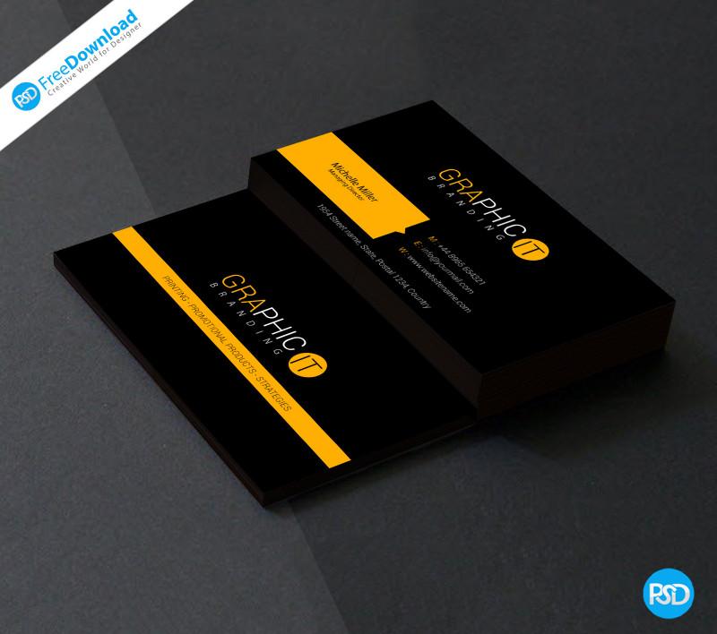 Business Card Template Photoshop Cs6 Unique 150 Free Business Card Psd Templates