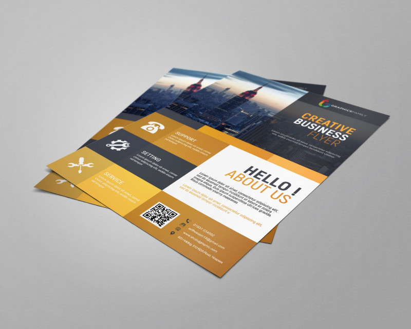 Calling Card Psd Template Unique Business Flyer Template Free Design