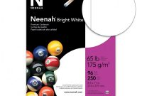 Card Folding Templates Free New Neenah Bright Card Stock Letter 250 Sheets Office Depot