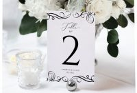 Card Stand Template Awesome Printable Table Numbers Template Elegant Swirls 4 X 6