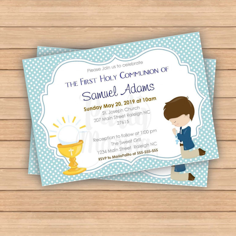 Celebrate It Templates Place Cards Awesome Editable First Communion Invitation Printable Boys Celebration Invite Blue Boy Event Invite Com1 E049