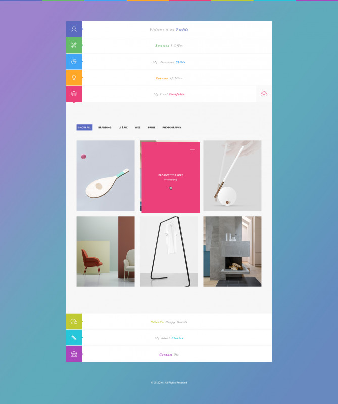 Chance Card Template Awesome Js Creative Vcard Resume Portfolio Psd Template
