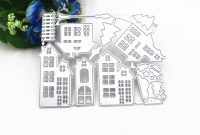 Christmas Note Card Templates New Cutting Dies Christmas House Scrapbooking Dies Metal Craft Die Cut Stamps Embossing Card Making Decorative Template