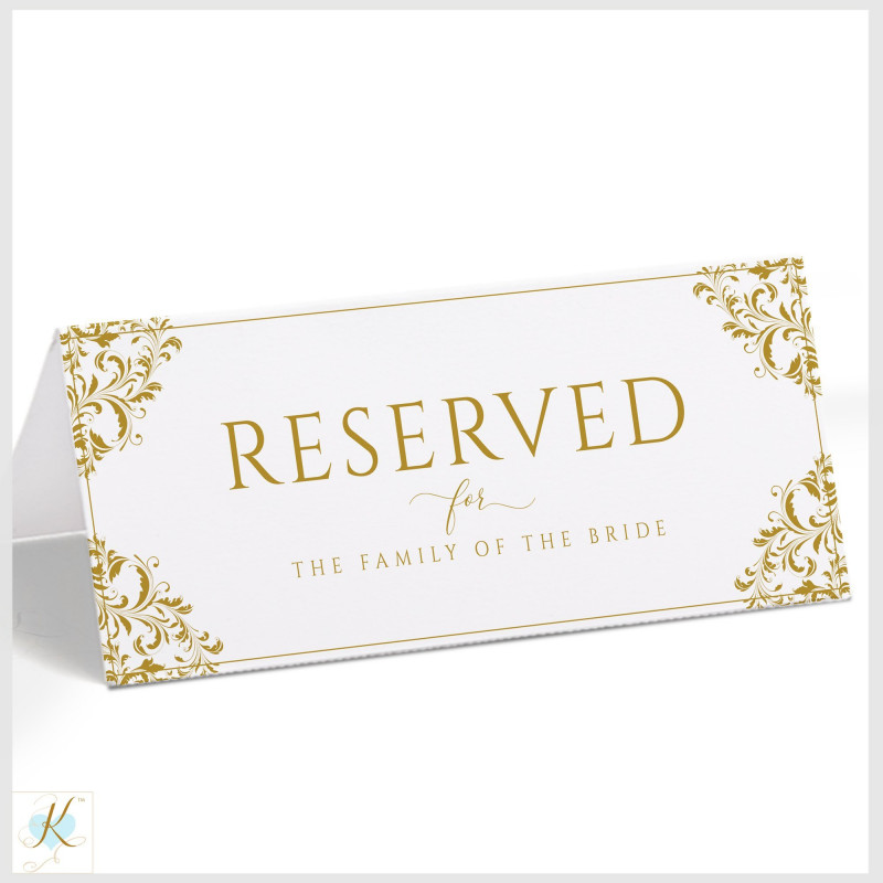Christmas Table Place Cards Template New Vintage Wedding Reserved Signs Tent Nadine Gold Templett