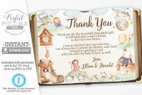 Christmas Thank You Card Templates Free Awesome Nursery Rhyme Baby Shower Thank You Card Mother Goose Thank