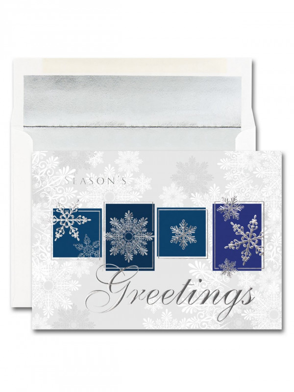 Christmas Thank You Card Templates Free New Jam Papera Christmas Card Set Snowflake Greeting Blocks Set Of 25 Cards and 25 Envelopes Item 915496