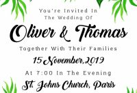 Church Wedding Invitation Card Template Awesome Watercolor Floral Wedding Card Download Free Vectors