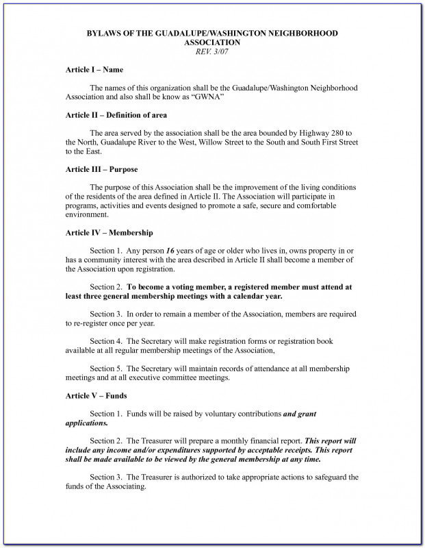 Comment Cards Template Awesome Civic Association Bylaws Template Vincegray2014