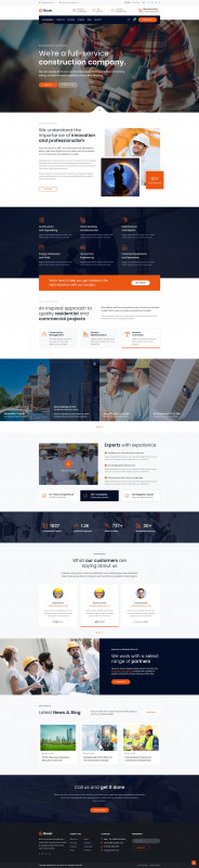 Comp Card Template Psd Awesome Bauer Construction Psd Template By Viworx Co Themeforest