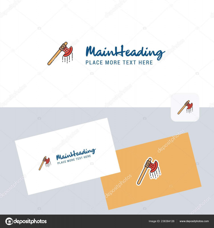 Company Business Cards Templates New Bloody Axe Vector Logotype Business Card Template Elegant