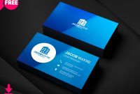 Company Id Card Design Template Awesome 150 Free Business Card Psd Templates