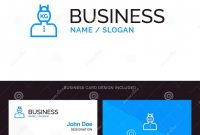 Company Id Card Design Template Awesome Head Life Problem Stress Weight Blue Business Logo and