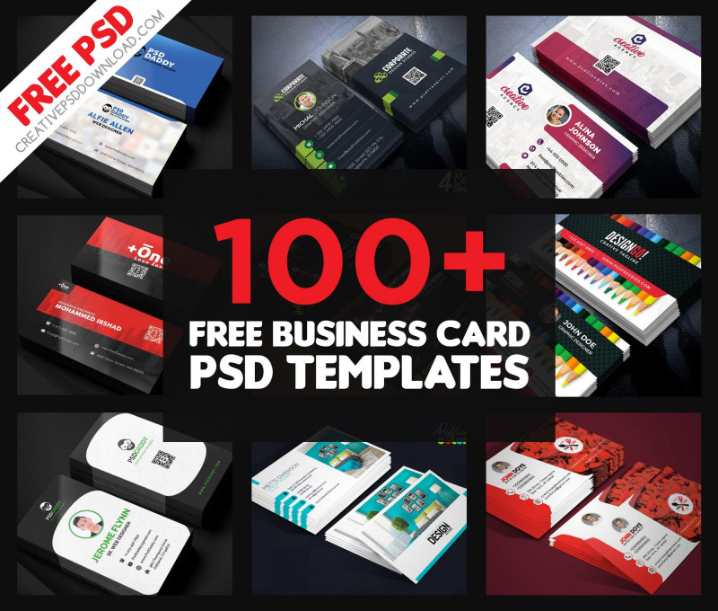 Company Id Card Design Template Unique 150 Free Business Card Psd Templates