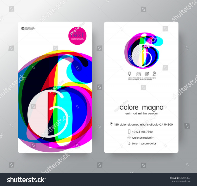 Company Id Card Design Template Unique Logo Number 6 Business Card Name Stock Vector Royalty Free