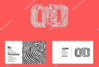 Company Id Card Design Template Unique Od Letters Company Logo Stock Vector A Brainbistro 140983728