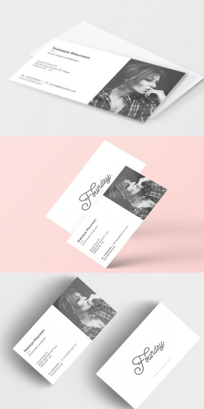 Creative Business Card Templates Psd Awesome Foundry Creative Business Card Adobe Photoshop Foundry