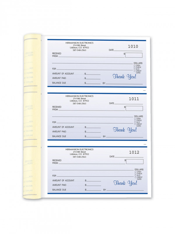 Credit Card Receipt Template Awesome Custom Carbonless Business Forms Pre Formatted 3 Part Receipt Books 6 1 2 X 8 1 2 White Canary Pink 252 Sets Per Book Box Of 2 Books Item