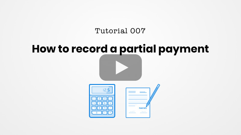 Credit Card Receipt Template New How To Record A Partial Payment With Bookipi Invoicing