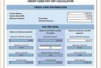 Credit Card Template for Kids Awesome Create Debt Mortgage Credit Card Calculator Excel Payoff