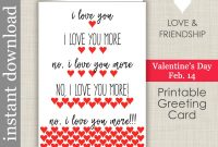 Death Anniversary Cards Templates Unique I Love You More Printable Anniversary Card Romantic