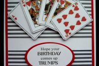 Deck Of Cards Template Awesome S459 Hand Made Birthday Card Using Playing Card Images