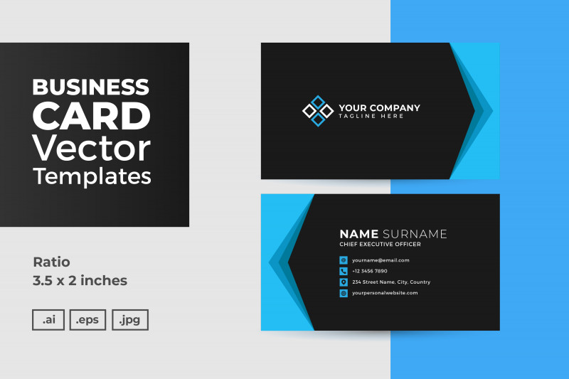 Designer Visiting Cards Templates Unique Business Card Vector Template