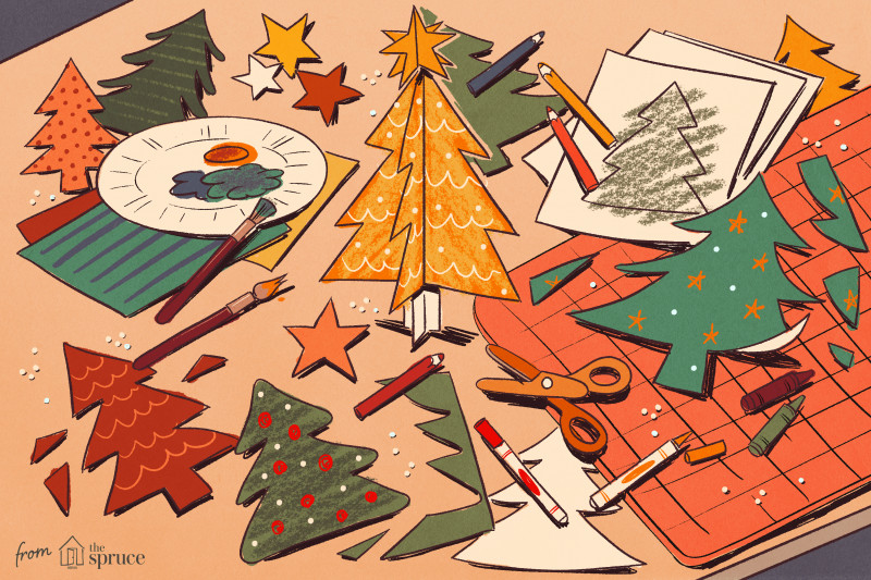 Diy Christmas Card Templates Awesome Christmas Tree Templates In All Shapes And Sizes