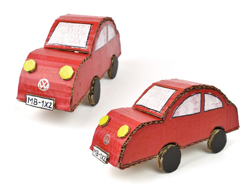 Diy Pop Up Cards Templates Awesome How To Make A Cardboard Car With Pictures Wikihow