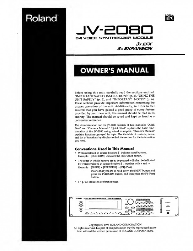Dominion Card Template Unique Roland Jv 2080 Owners Manual Manualzz