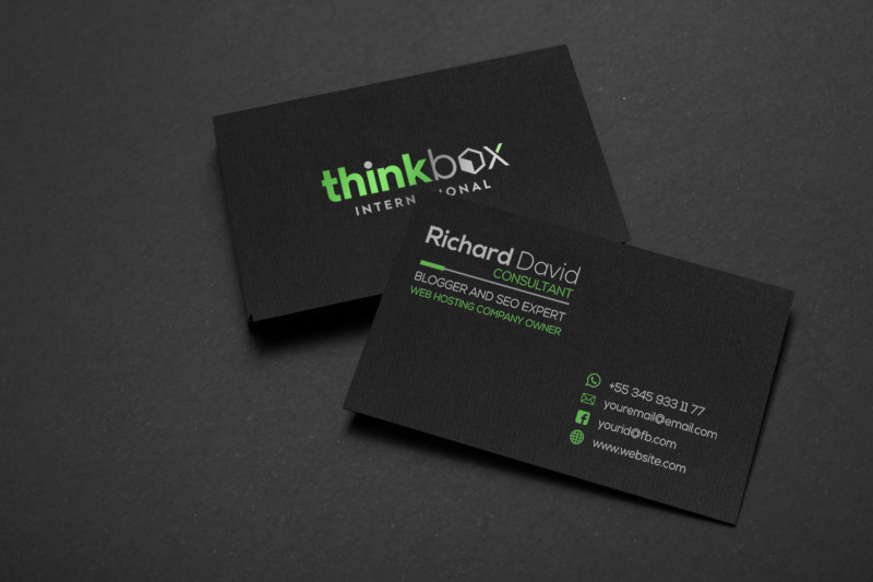 Double Sided Business Card Template Illustrator Unique Design Creative Business Card And Stationery