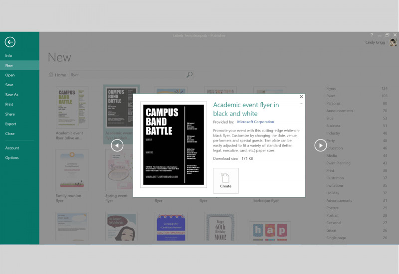 Download Comp Card Template Awesome Free Design Templates for Microsoft Publisher