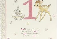 Dr Seuss Birthday Card Template New Daughter 1st Birthday Card Birthday Card Age 1 Girl Disney Birthday Card Adorable Bambi Design