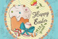 Easter Chick Card Template Unique Easter Holiday 6 Square Banner Sticker In A Circle In the