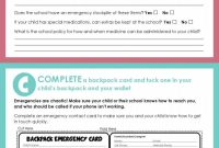 Emergency Contact Card Template Unique School Safety During Emergencies What Parents Need to Know