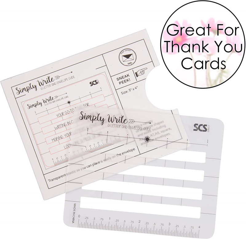 Envelope Templates For Card Making New Lettering Envelope Addressing Stencil Template Ruler Guide