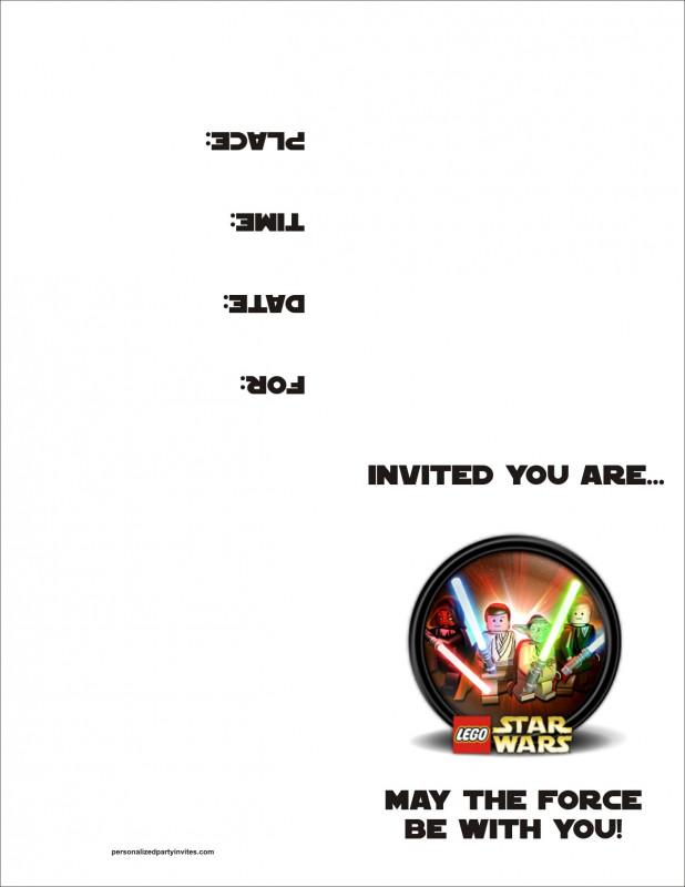 Event Invitation Card Template New Lego Star Wars Free Printable Birthday Party Invitation