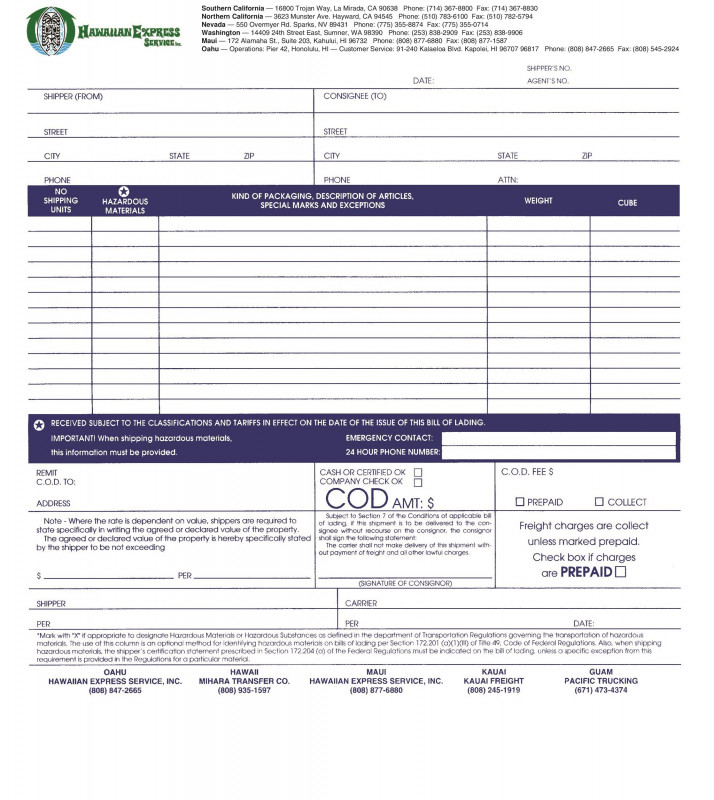 Fake social Security Card Template Download New 40 Free Bill Of Lading forms Templates A… Templatelab