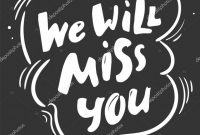 Farewell Invitation Card Template Awesome Aˆ We Will Miss You Banners Stock Images Royalty Free