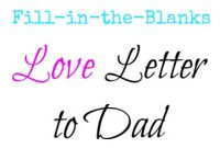 Fathers Day Card Template New Help Your Young Child Write A Love Letter to Dad for